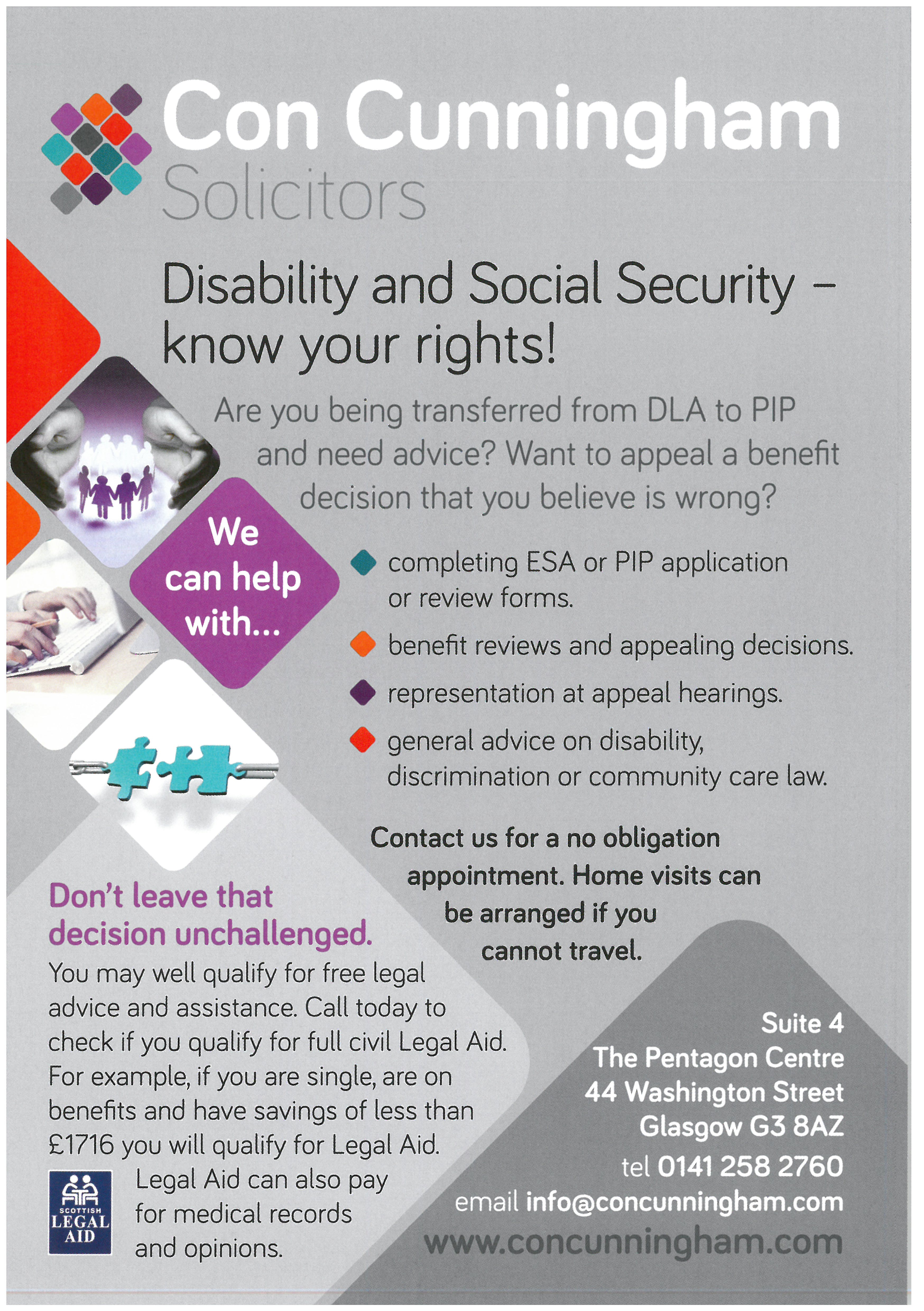 Benefits Advice Leaflet
